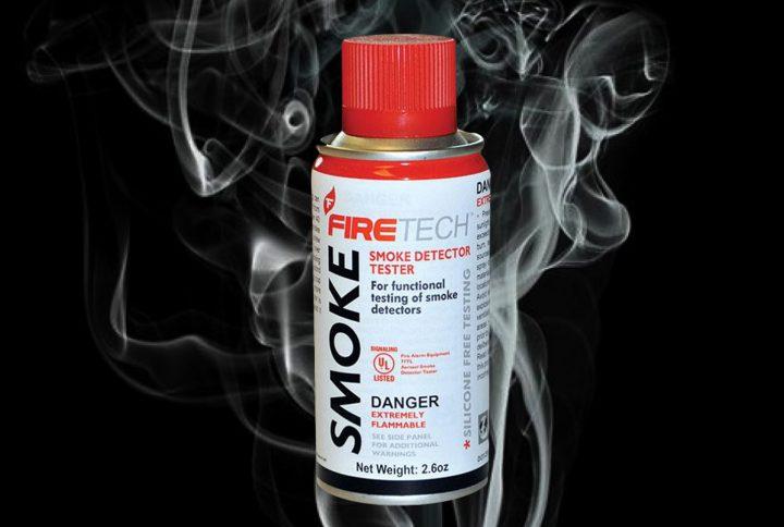 Disponibilidad de Spray probadores de detectores de humo.