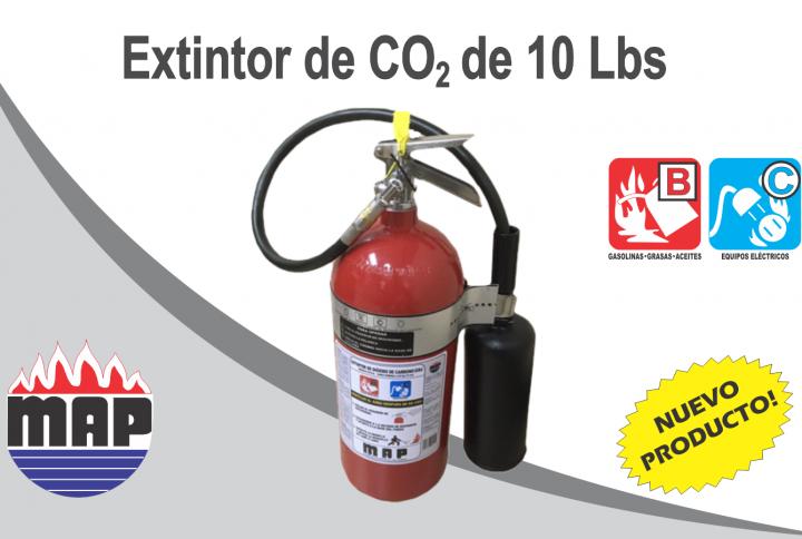 Nuevo Producto: Extintor MAP de Dióxido de Carbono de 10 lbs
