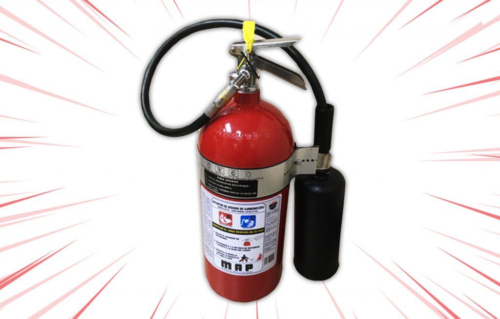 Extintor de Dióxido de Carbono (CO2) de 10 lbs