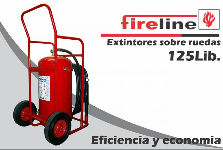 Extintor sobre ruedas Fireline de 125 Lbs